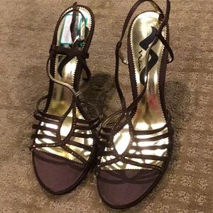 New Nina dress heels brown and bronze